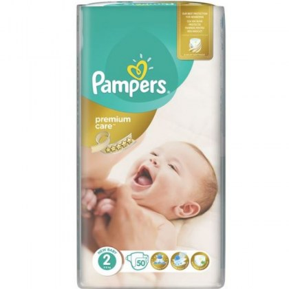 PAMPERS PREMIUM CARE No2 τεμ.50 (ΤΙΜΗ ΑΝΑ ΠΑΝΑ 0,16€)